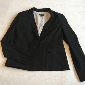 Ann Taylor Black One Button Blazer Size 10.